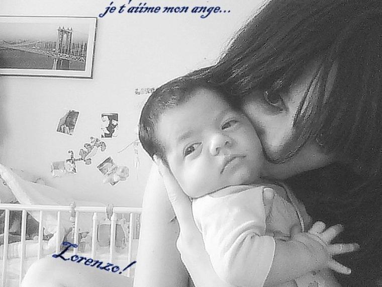 Ma viie!! mon ange!! Tout simplement Lenzo mon fils!!