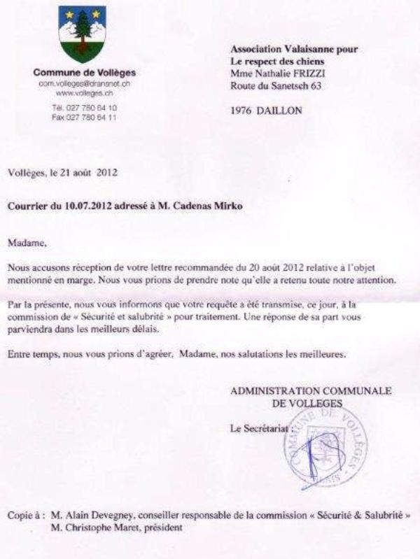 Commune de Vollège.