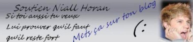 One Direction et Niall Horan soutien.