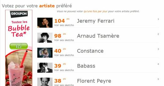 Votez pour Arnaud Tsamere!!!!!