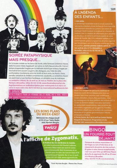 """Arnaud Tsamere dans """"Femmes d'Aujourd'hui"""""""