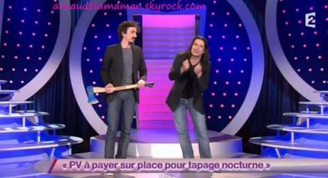 PV à payer sur place pour tapage nocturne (63ème passage d'Arnaud Tsamere)
