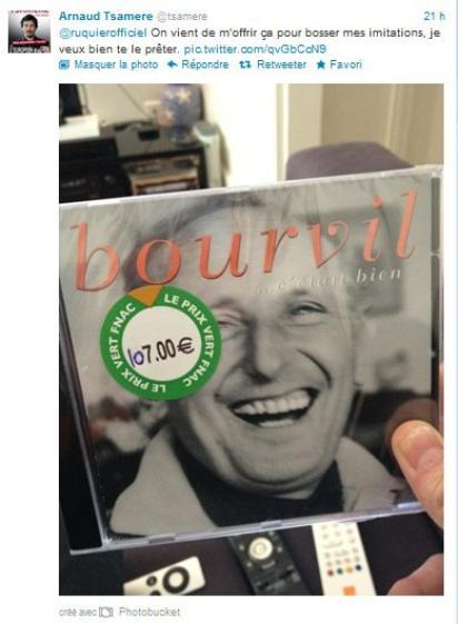 Arnaud Tsamere fait une petite blague à Laurent Ruquier
