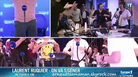 "Arnaud Tsamere danse avec l'équipe de ""On va s'gêner"" sur Europe 1"