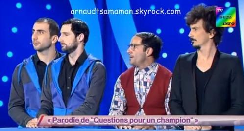 Arnaud Tsamere est passé dans le sketch d'Artus (Questions pour un champion)