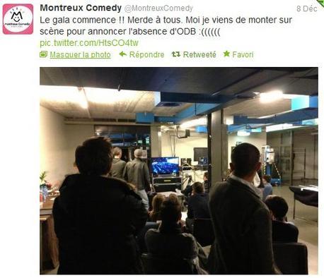 Arnaud Tsamere s'amuse à sa façon sur le compte du Festival de Montreux...