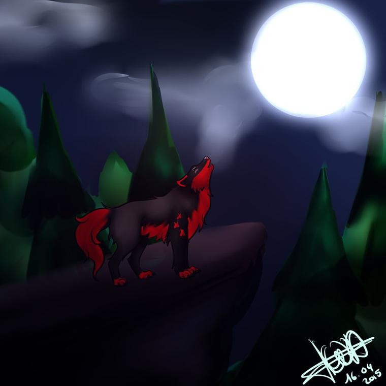 DarkMoon by Sleeping-FOREST+ speedpaint
