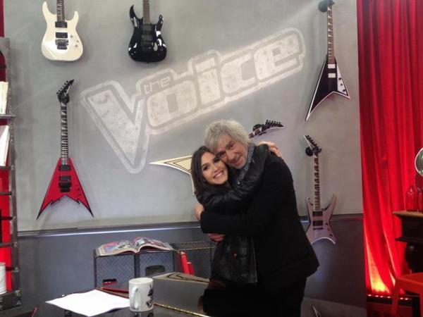 09/01/2013 : Retrouvailles sur le tournage de la saison 2 de The Voice