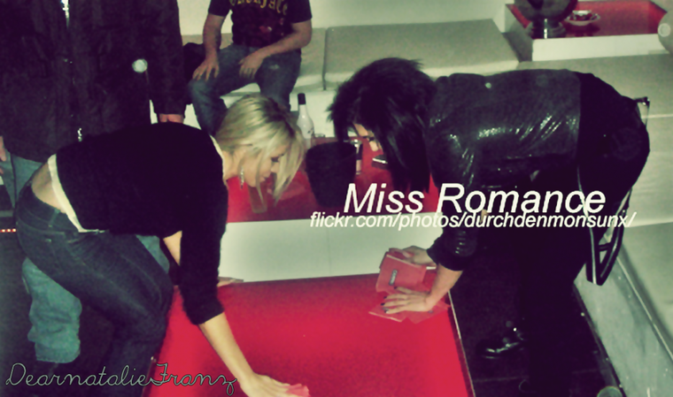 Natalie Franz & Bill Kaulitz at The Fan Party . Thanx to Miss Romance