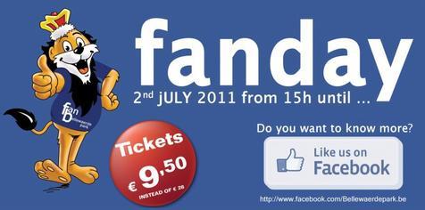 Facebook ouvre Bellewaerde Park plus longtemps le samedi 2 juillet