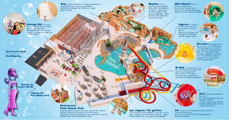 Plan du parc (Aqualibi Belgium)