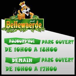 Date d'ouverture en temps réel des parc ! (Walibi Belgium Aqualibi Bellewaerde)