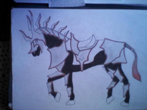 cheval en armure
