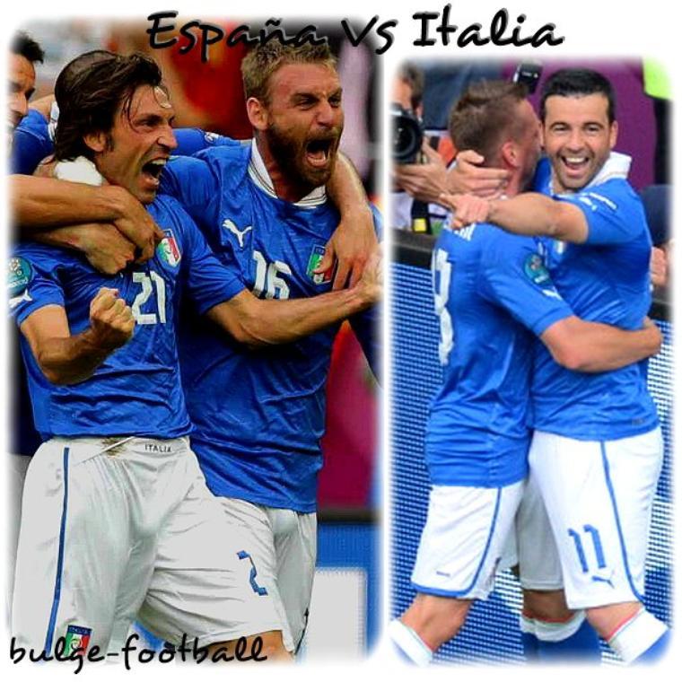 Euro 2012 : Espagne vs italie bulge
