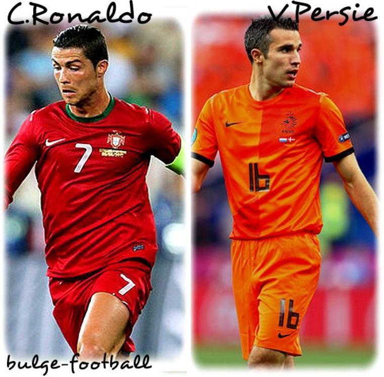 Euro 2012 : C.Ronaldo et Van Persie bulge