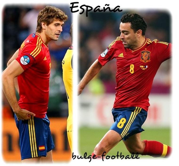 Euro 2012 : Espagne en final ! Xavi Hernandez, Gerard Piqué, Fernando Llorente bulge