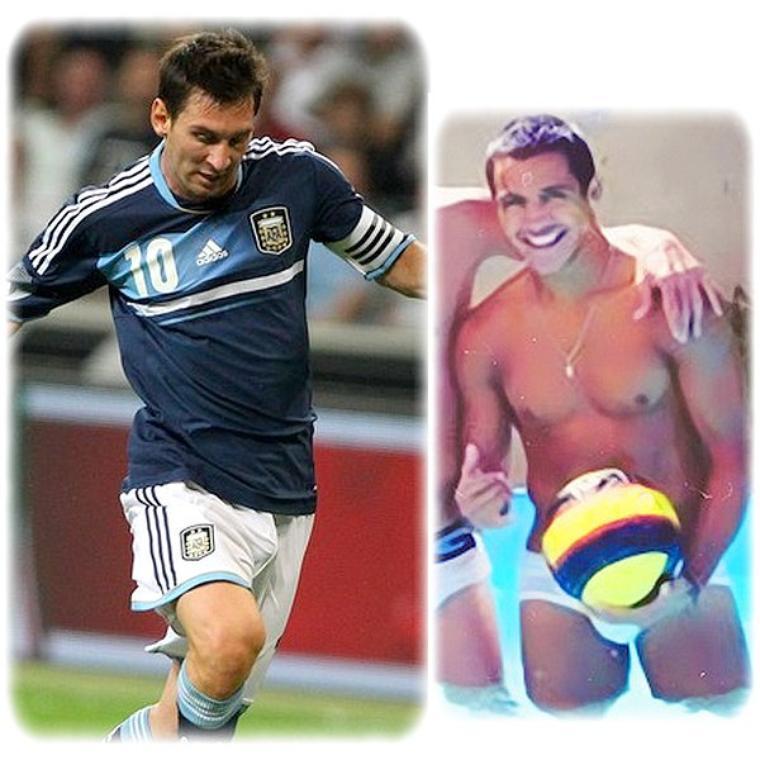 Lionel Messi AMAZING bulge And Alexis Sacnhez bulge
