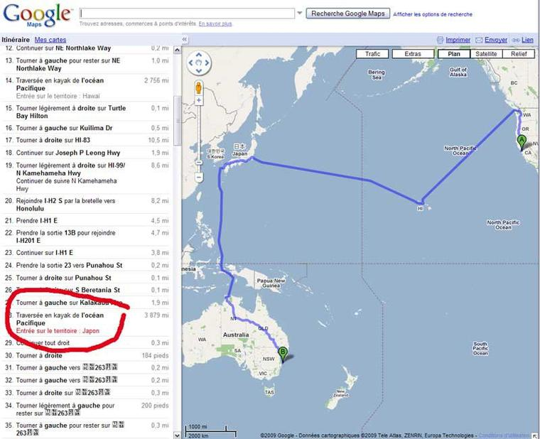 "Google - ""Easter Eggs"" dans Google Maps-"