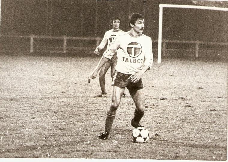 Hervé Jean (joueur de la Berrichonne entre 1972 et 1977), survêtement porté avec Poissy entre 1977 et 1980