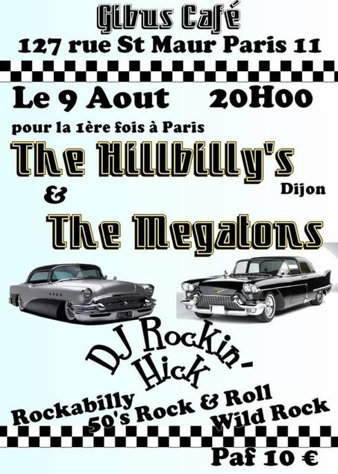 The HILLBILLIES & The MEGATONS au Gibus Café Paris