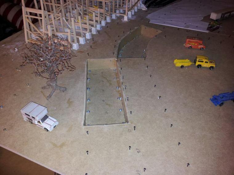 construction de la fosse pour un passage souterrain