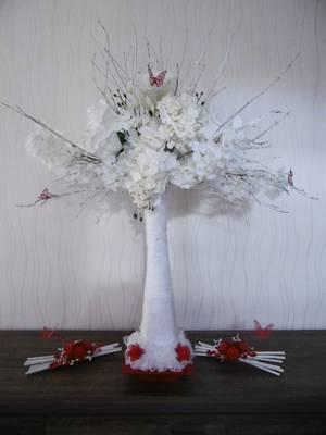 Un arbre à photos et des fagots