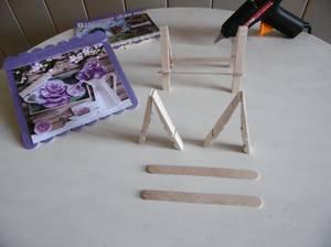Petit  chevalet pour cadre en 3D