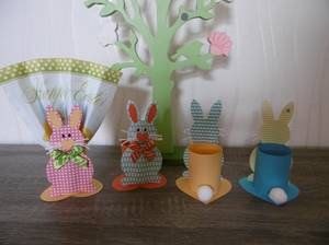 Des lapins porte-serviette