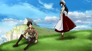 Os: Levi x Mikasa et Eren x Oc