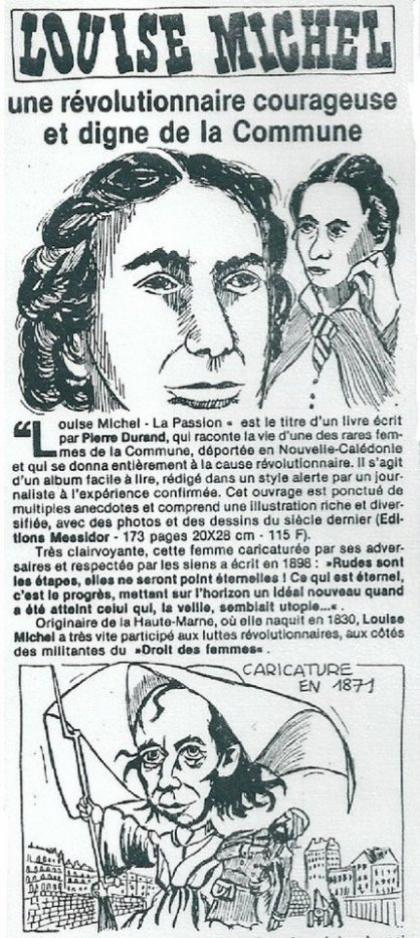 LOUISE MICHEL ET LA COMMUNE