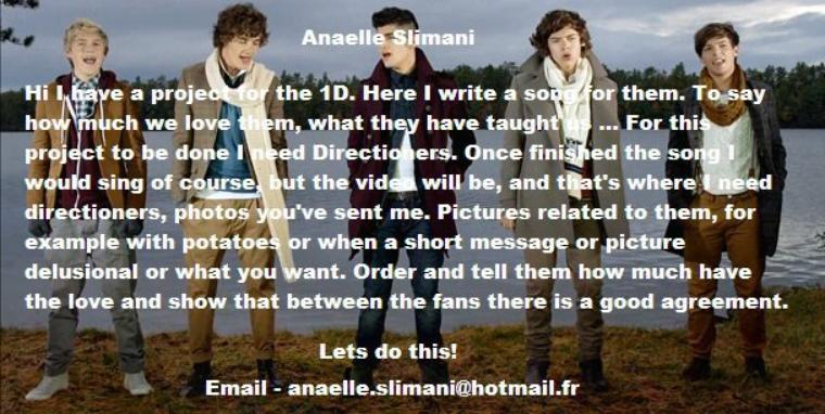 ONE DIRECTION PROJET
