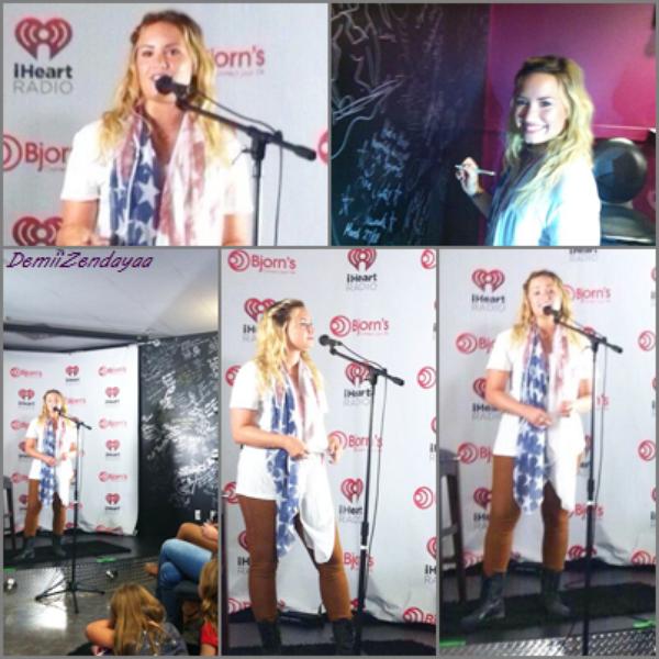 Le 02/09 - Demi était présente au Bjorn's Live Music Lounge au Texas pour répondre à des questions.