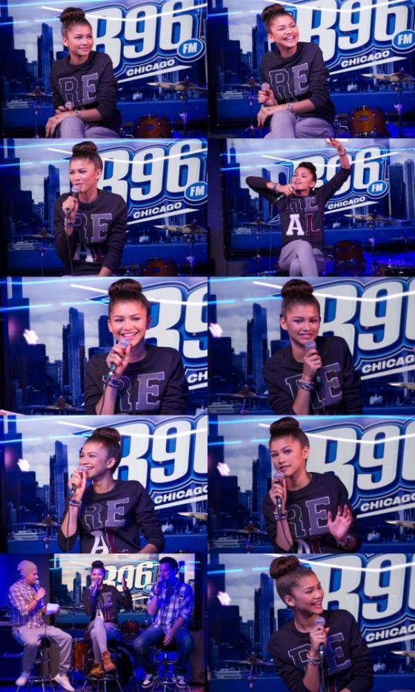 Le 05/10 - Zendaya était à la radio B96 Chicago FM !!