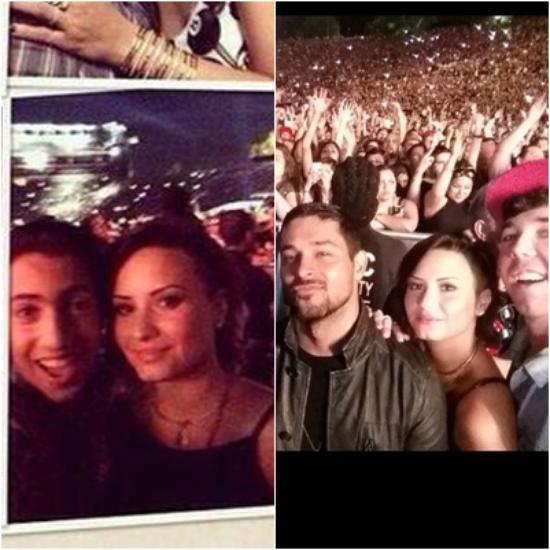 LE 08/08 - Demi c'est rendu au concert de Rihanna et Eminem à Los Angeles !