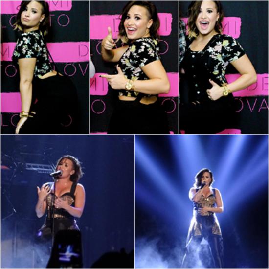 LE 12/09 - Demi a fait un concert à Raleigh en Caroline du Nord !