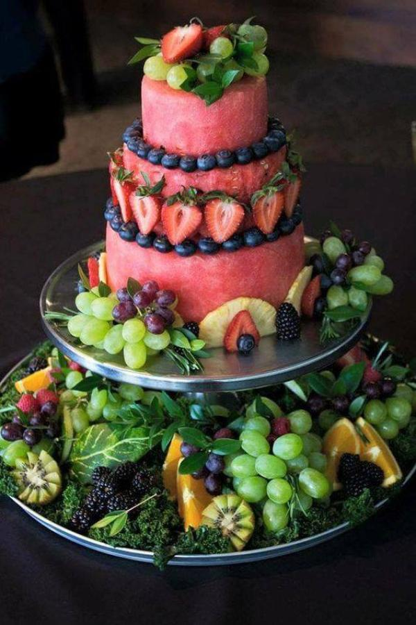 Et si on présentait les fruits comme un somptueux gâteau ?