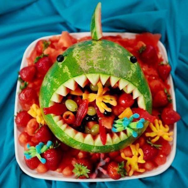 Des corbeilles de fruits très originales, non ? ;-) 🍉