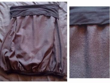 Jupe grise ceinture noire