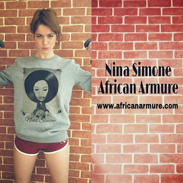 #NinaSimon by  #AfricanArmure #Sweat