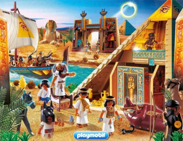 Poster Playmobil sur le thème de l'Egypte.