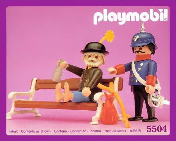 Playmobil Gendarme et vagabond.