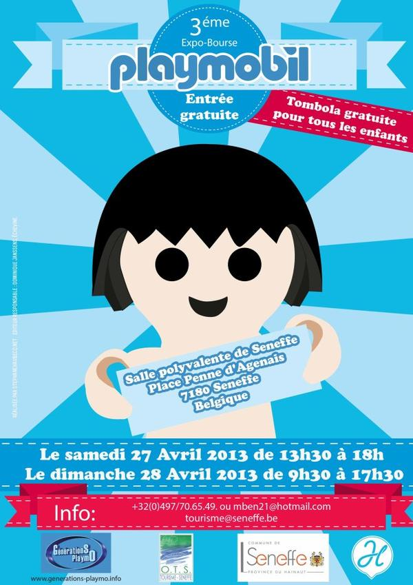 Exposition de Playmobil en Avril.