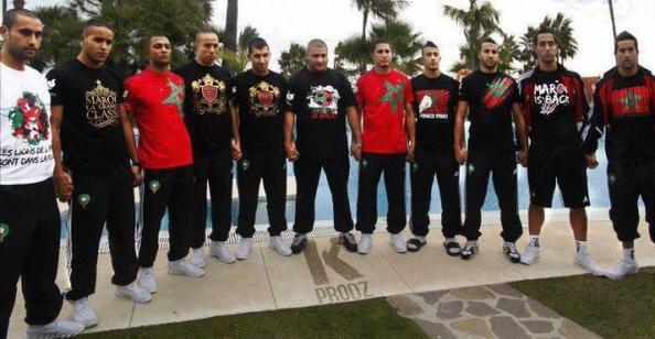 kalsha et l'equipe de maroc