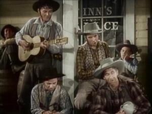 """"""""""""""" Laurel et Hardy au Far West ''' . ..Ils dansent de la country  ...."""