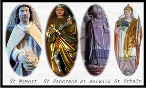 11 ,12 ,13 mai ........  Les saints de glace : Proverbe, dicton . Saints de glace rime souvent avec météo calamiteuse.