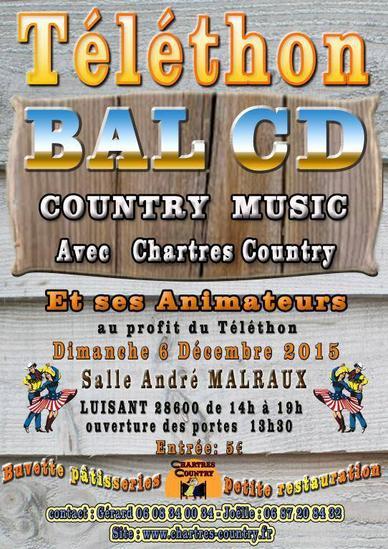 """06 Décembre 2015. Bal Téléthon de notre club """" Chartres Country """" ."""