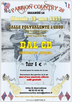 Bal chez Passion Country le 26 mars 2017.