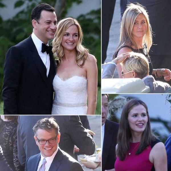"""..LE 14 JULLET 2013 L'ANIMATEUR DE TALK SHOW """"JIMMY KIMMEL"""" C'EST MARIER ! .....VENUT A SON MARIAGE """"JENNIFER GARNER ET SON MARI BEN AFFLECK"""" , """"MATT DAMON"""" , """"JENNIFER ANISTON"""" ET SON FIANCER """"JUSTIN THEROUX""""(de koi faire taire les rumeurs de la separation de l'ex star de friends et de son fiancer justin) , """"KRISTEN BELL"""" (veronica mars) ET SON MARI"""" AINSI KE """"ELLEN DEGENERES"""" ET SA FEMME """"PORTIA"""" ET PLEIN D'AUTRES INVITER !!!!!"""