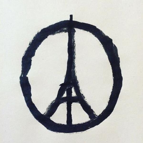 """VOICI LE MESSAGE D'ELLEN"""" ACCOMPAGNER DE CETTE IMAGE (ci-dessous) QUE L'ANIMATRICE A POSTER SUR SON SITE POUR SOUTENIR LES FRANCAIS DUT AU ATTENTATS QUI ON FRAPPER LA FRANCE VENDREDI 13 NOVEMBRE 2015 theellenshowI'm thinking about the people of Paris tonight. """"ellen"""" << j'ai une pensée pour les francais de paris ce soir  >>"""