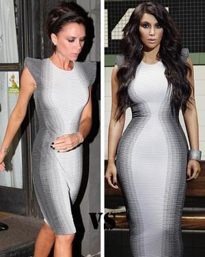 Les stars portent les mêmes tenues 7 : Victoria Beckham et Kim Kardashian !